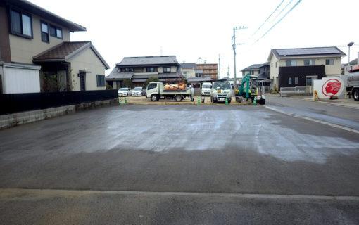 大分市坂ノ市駐車場砂利舗装工事(カタマSP)
